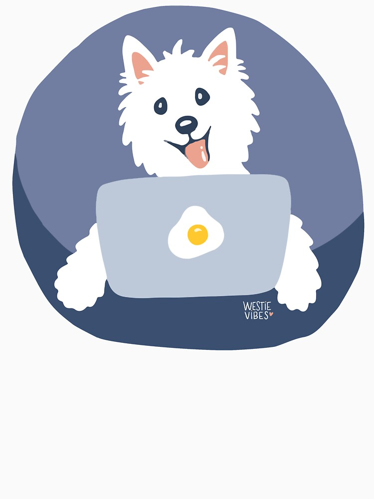 Westie Dog Working From Home by mirunasfia