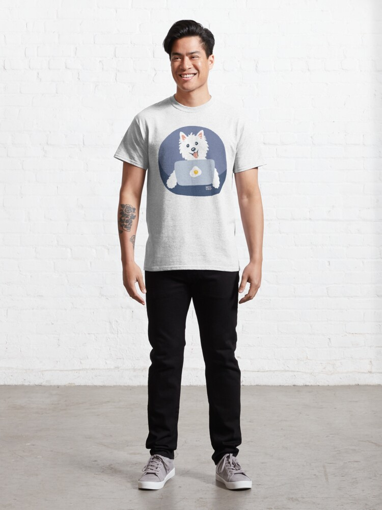 Alternate view of Westie Dog Working From Home Classic T-Shirt
