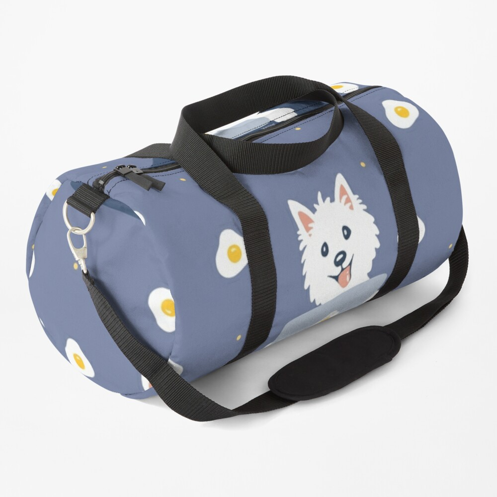 Westie Dog Working From Home Duffle Bag