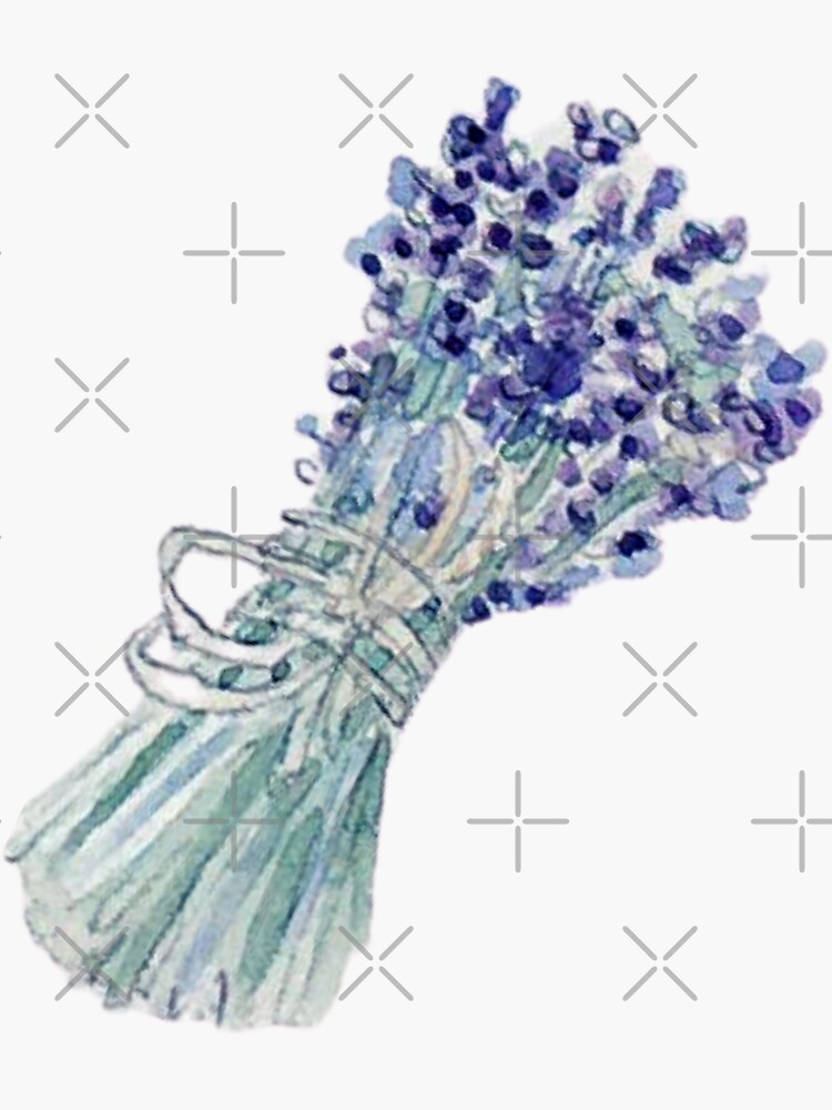 Lavender Bouquet with Twine Bow  by WitchofWhimsy