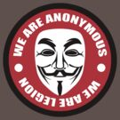 Anonymous - we are legion by GroatsworthTees