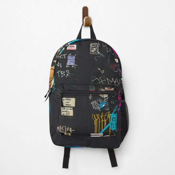 Black Graffiti Backpack