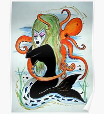 mermaid and octopus  Poster