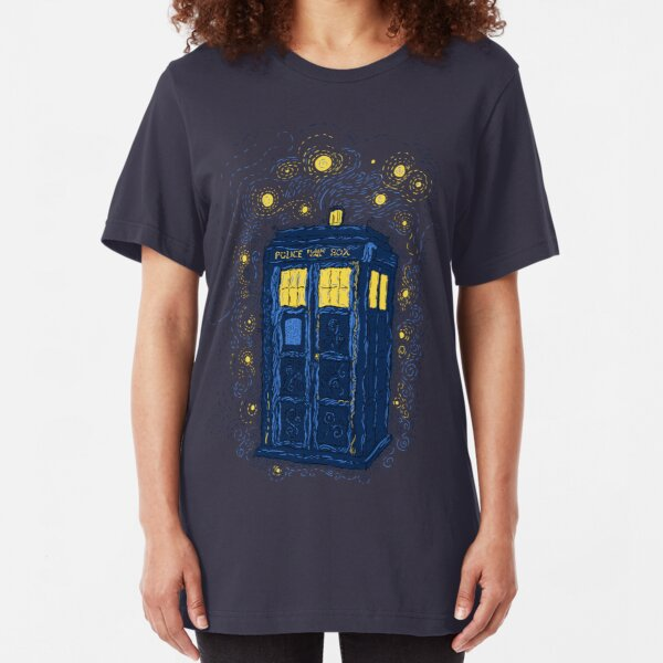 Space Time Impressionism Slim Fit T-Shirt