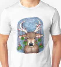 Deer with Holly T-Shirt