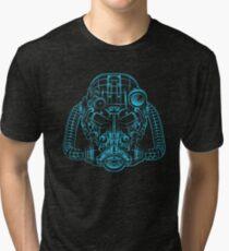 Power Wireframe Blue Tri-blend T-Shirt