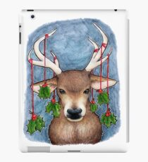 Deer with Holly iPad Case/Skin