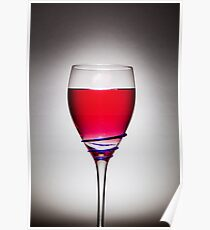Full Wine Glass - Grey Poster