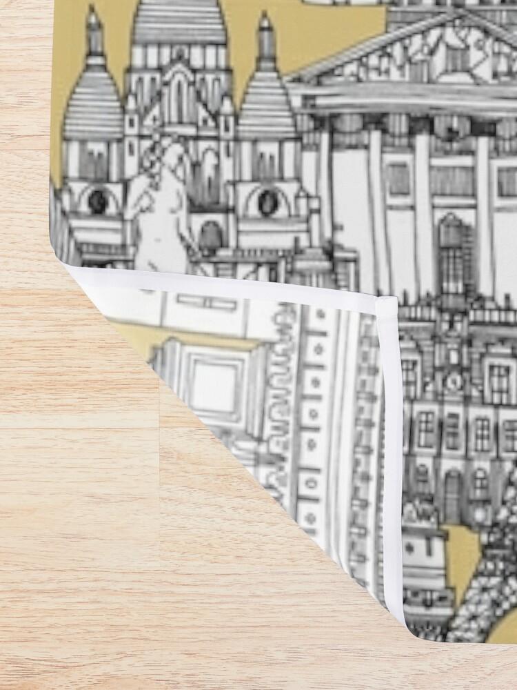 Alternate view of Paris toile gold Shower Curtain