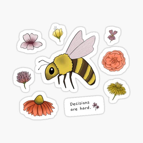 Little Bee Can't Decide Sticker