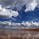 Reflection on a beach by David Tovey