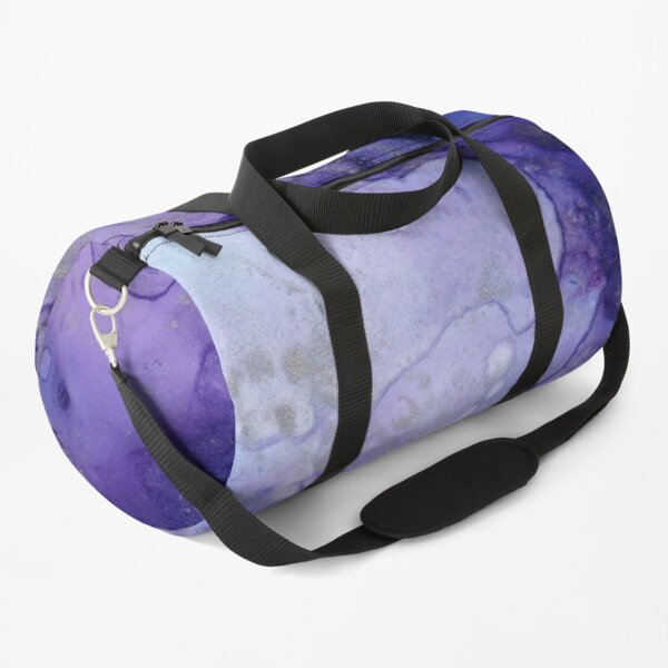 Blue Watercolour Pattern, Blue Watercolour Print Duffle Bag