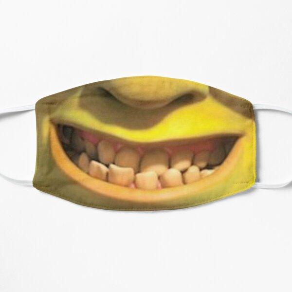 Shrek 2 - Sonrisa torpe de Shrek Mascarilla plana