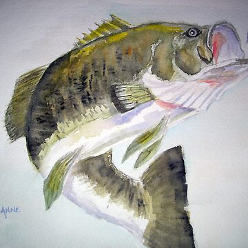 LargeMouth Bass by Annartiste