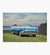 1957 Chevrolet Bel Air Convertible Photographic Print