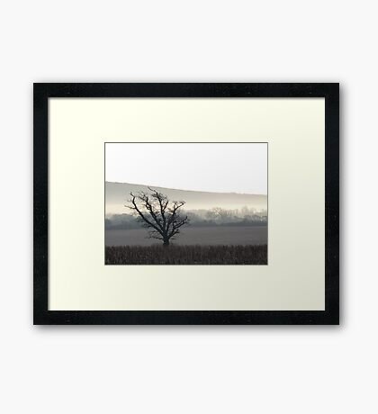 On a Cold & Frosty Morning Framed Print