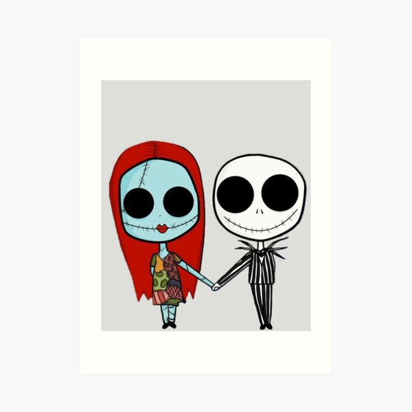 Jack and Sandy - The Nightmare Before Christmas Art Print