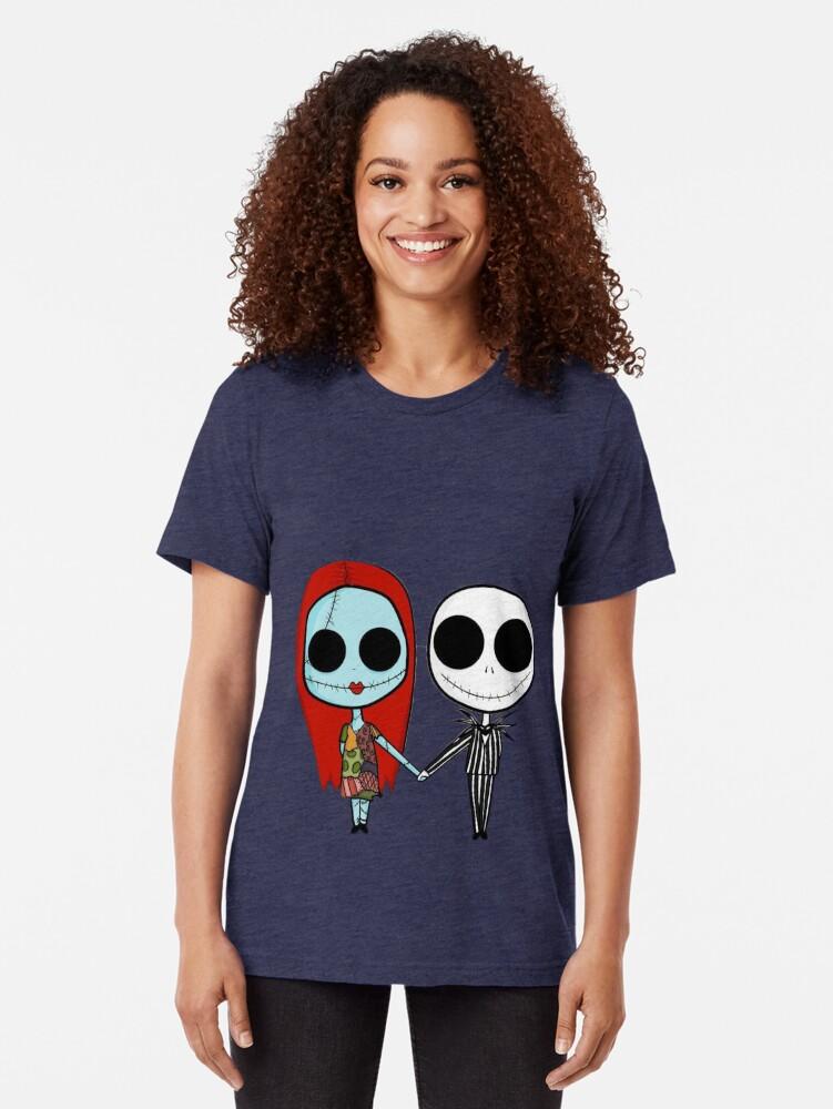 Alternative Ansicht von Jack und Sandy - Der Alptraum vor Weihnachten Vintage T-Shirt
