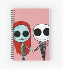 Jack and Sandy - The Nightmare Before Christmas Spiral Notebook