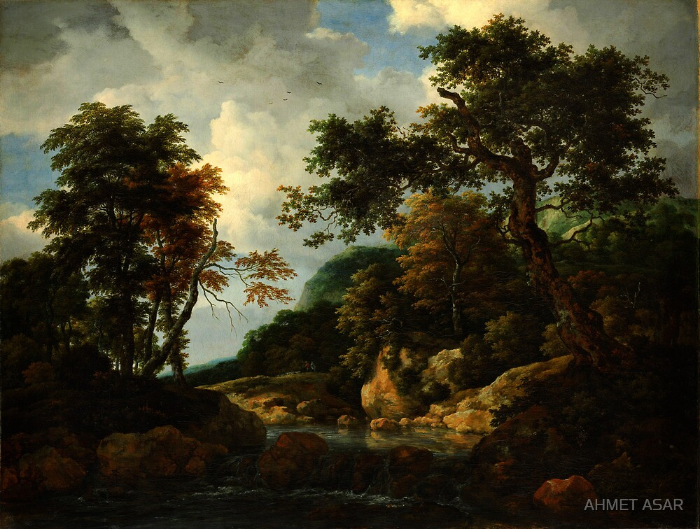 Jacob van Ruisdael  The Forest Stream by MotionAge Media