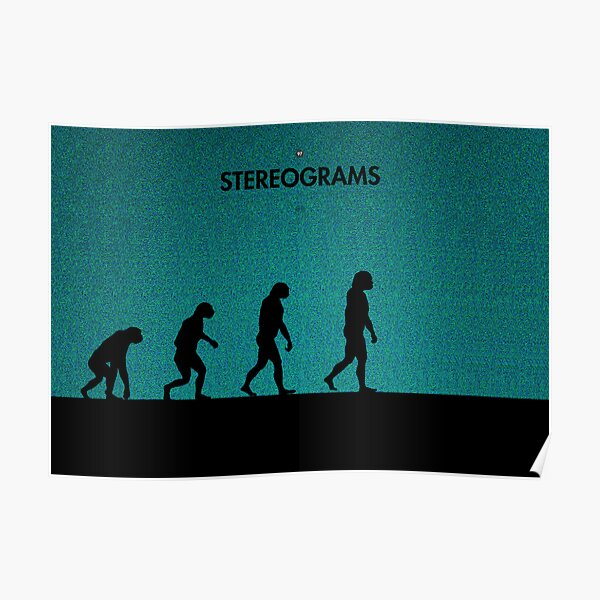 99 Steps of Progress - Stereograms Poster