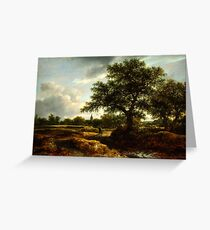 Jacob van Ruisdael   Landscape with a Village in the Distance (1646) Greeting Card
