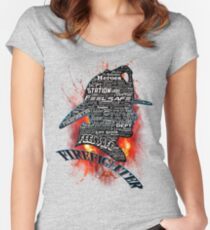 Firefighter phrases that symbolize Women's Fitted Scoop T-Shirt