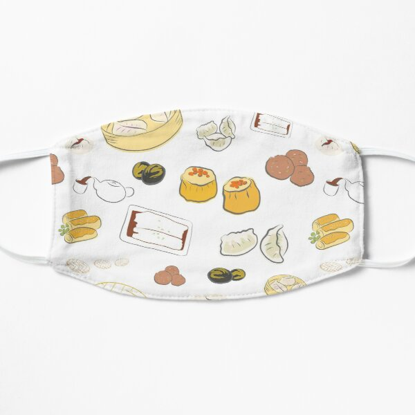 Dim Sum Pattern on White Background Mask
