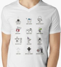 How to be a Superhero Men's V-Neck T-Shirt