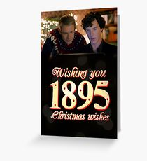 """Wishing You 1895 Christmas Wishes"" Greeting Card"