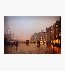 John Atkinson Grimshaw  Liverpool from Wapping (1885) Photographic Print