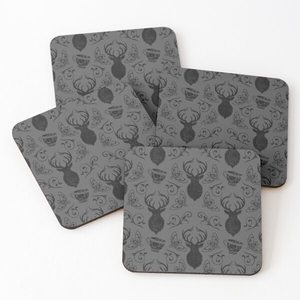 silence of the stag Coasters (Set of 4)