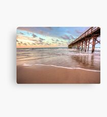 Sunrise At The Holden Beach Pier Canvas Print