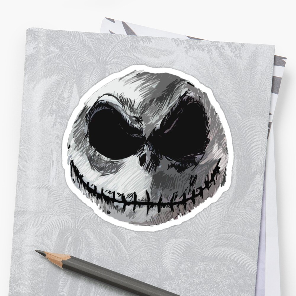 'Jack Skellington Face 2 - The Nightmare Before Christmas' Sticker by tomohawk64