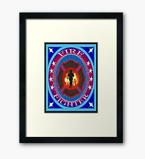 Fire fighter vintage gits  Framed Print