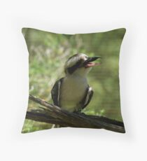 Laughing Kookaburra Throw Pillow