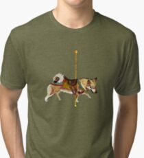 Vallhund Merry-Go-Round Tri-blend T-Shirt