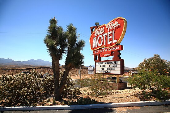 Route 66 - Hill Top Motel by Frank Romeo