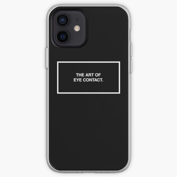 The art of eye contact. iPhone Soft Case