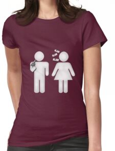 Sticky Sitcom Womens Fitted T-Shirt