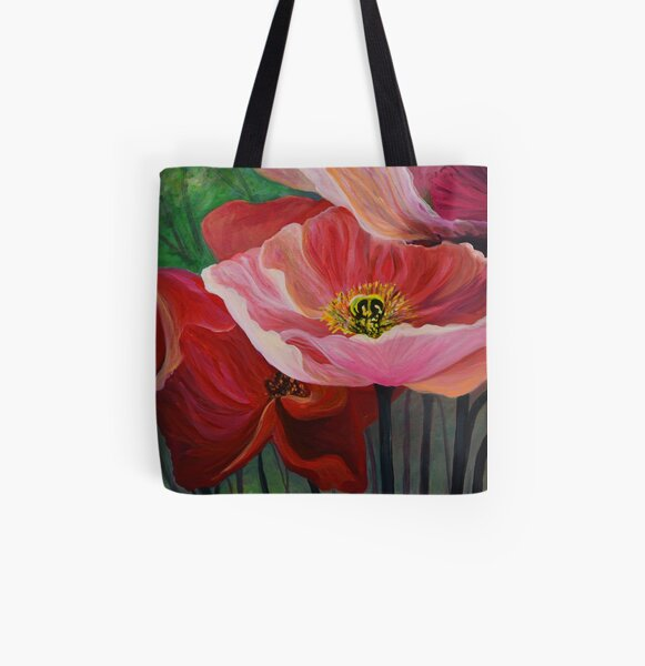Poppies of Oz All Over Print Tote Bag
