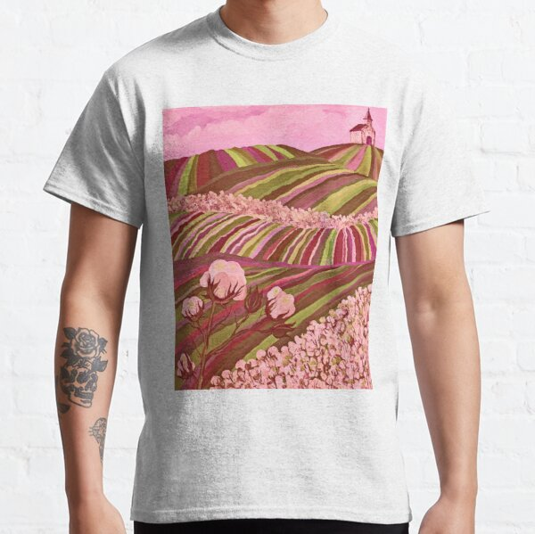Southern Glory (Tennessee Cotton Field) Pink Classic T-Shirt