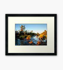 Dunham river Framed Print
