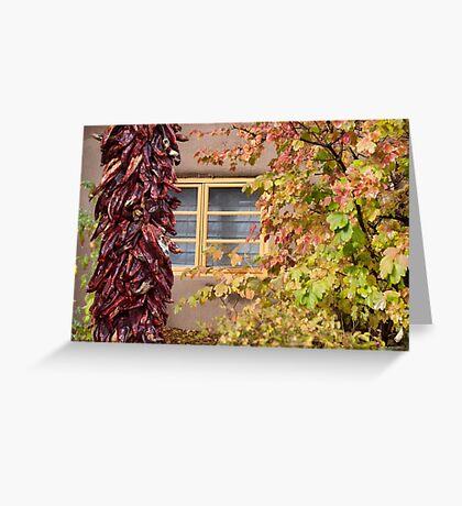Chilli Fall Foliage Greeting Card