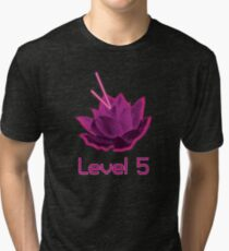 Level 5 Laser Lotus - Pink Tri-blend T-Shirt