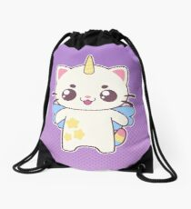 Unicorn Cat Drawstring Bag