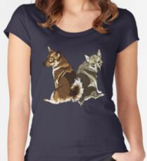 Vallhunds - Natural Colours Women's Fitted Scoop T-Shirt