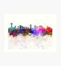 Knoxville skyline in watercolor background Art Print