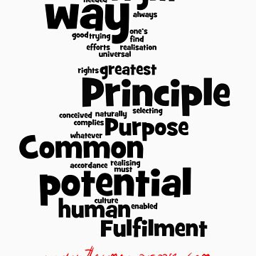 The Common Purpose Wordle (vertical) by benwallace13