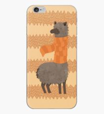 Llama In A Scarf Keeping Warm iPhone Case